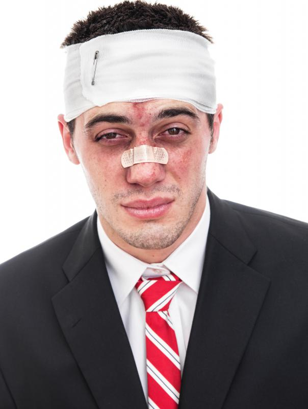 Injuries to the nose can cause profuse bleeding.