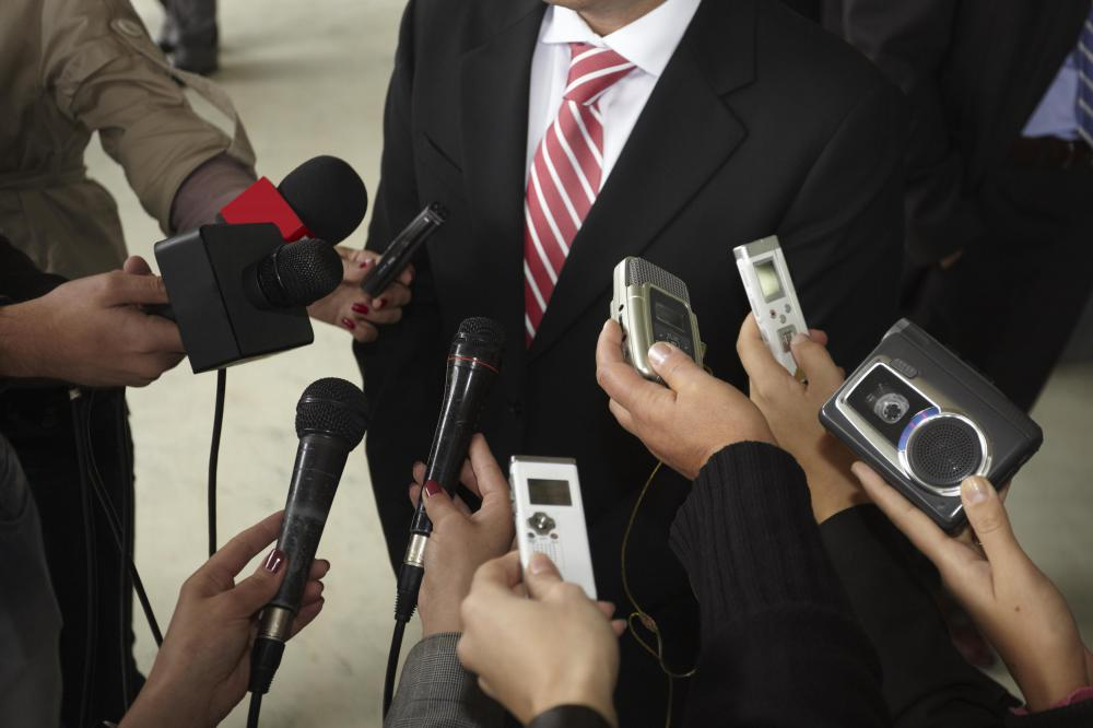 Media relations can involve a company representative interacting with the media.