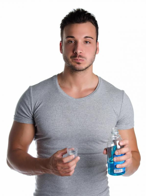 Persuasive advertising can intend to make a consumer believe a particular brand of product, such as mouthwash, will lead to a greater likelihood of business success.