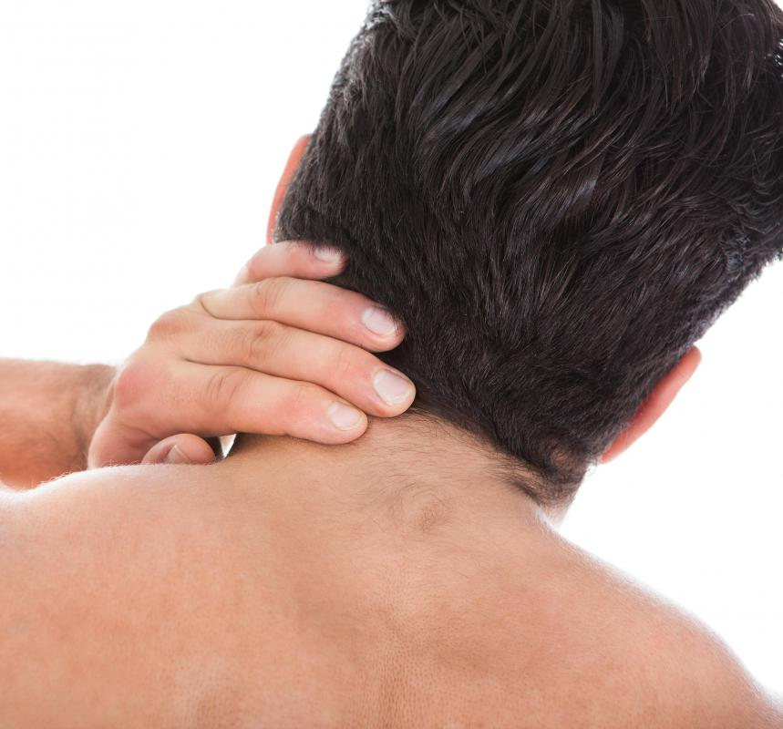 Neck pain is commonly caused by strained muscles, poor posture and injury.