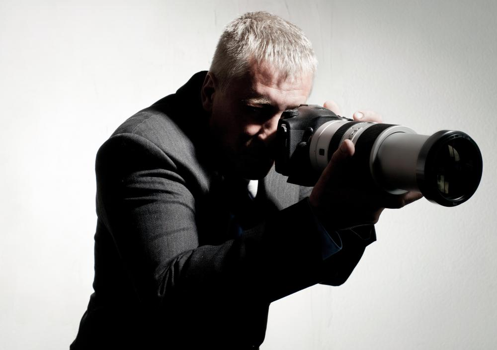 Telephoto lenses are frequently used by paparazzi.