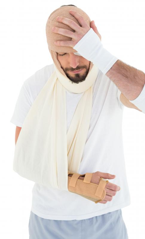 A hand splint may be useful in treating a broken hand.