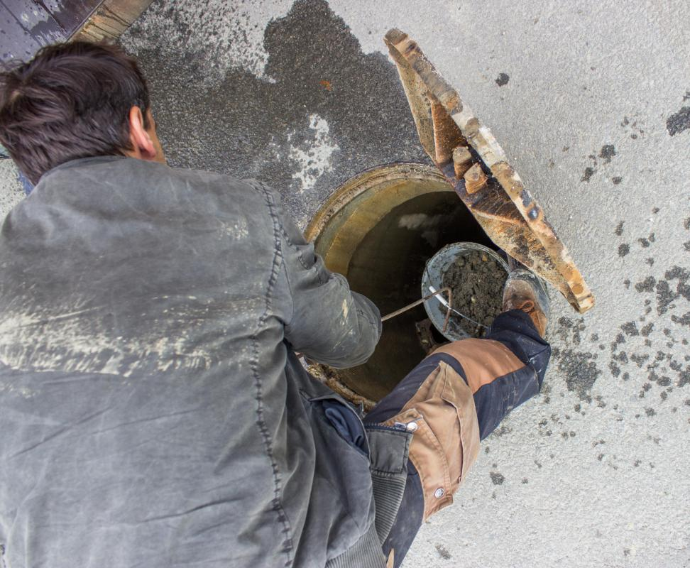 Sanitation workers are required to have confined space training.
