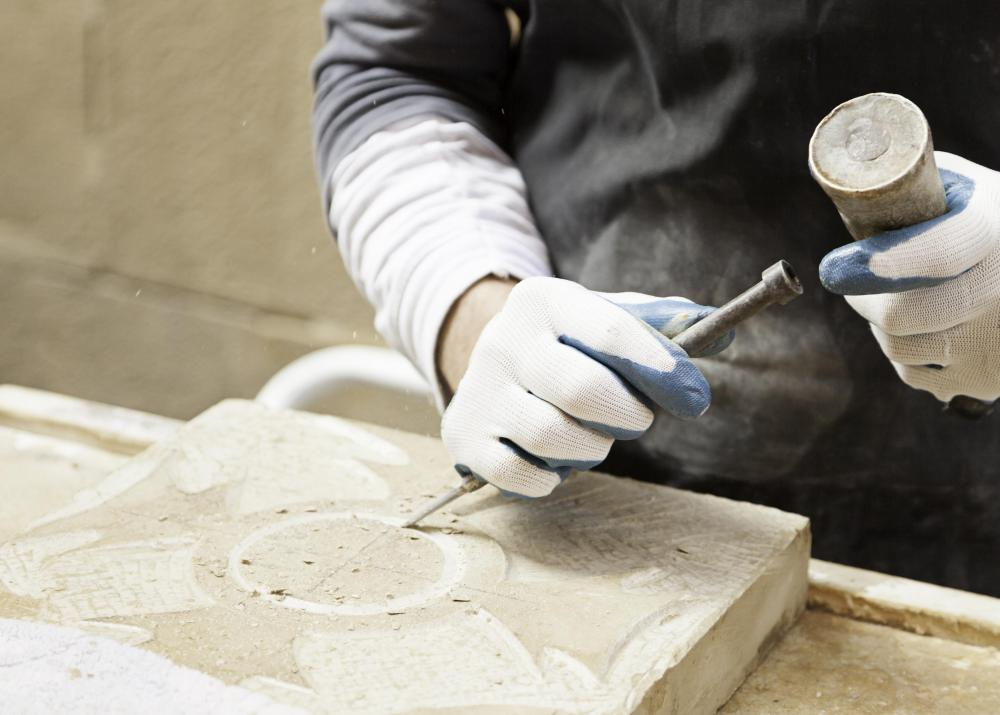 Stonemasons often work on gravestones.