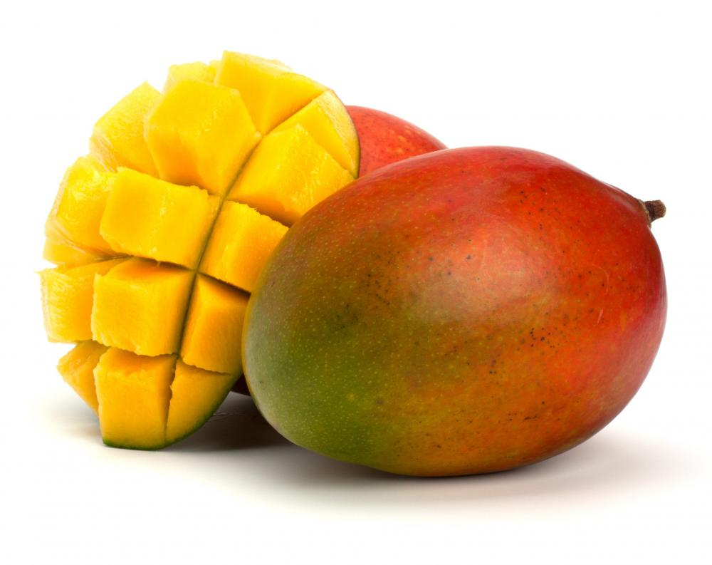 Mango is a popular tropical fruit.