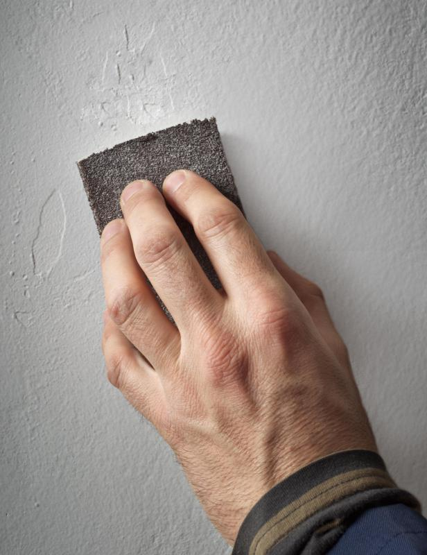 Spackling paste should be sanded down after it dries.