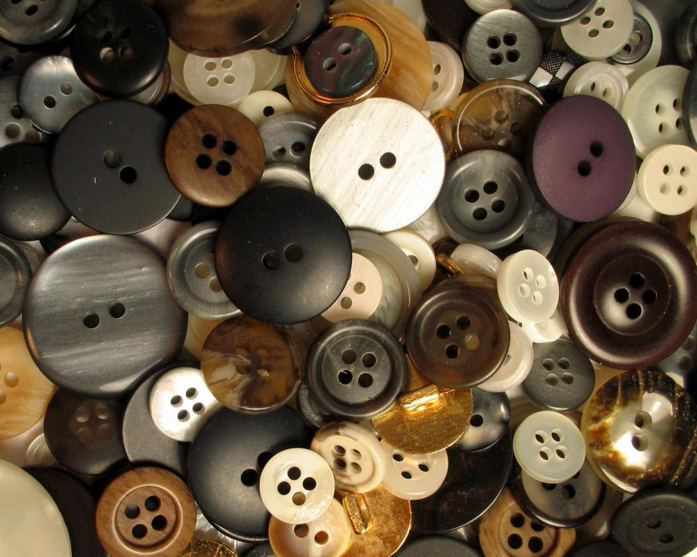 Seamstresses have to be able to sew a variety of buttons onto clothing.