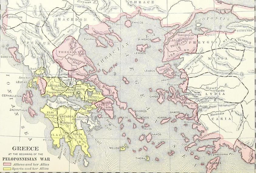 During the Peloponnesian War, the maytime-based, Athenian-led Delian League faced off against Sparta and its allies in the Peloponnesian Confederacy.