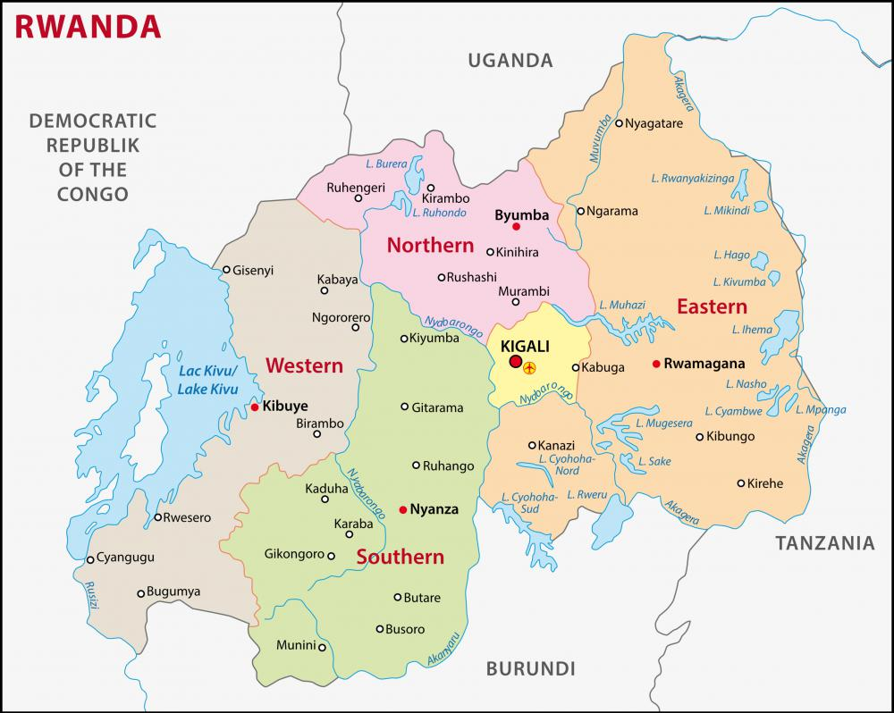 Though not an official language, Swahili is widely spoken in Rwanda.