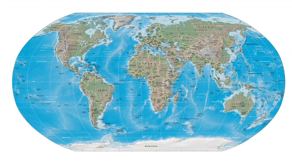 Antarctica Flat Earth Map