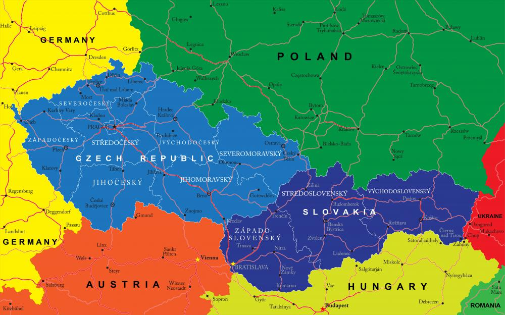 The Czech Republic is landlocked and bordered by Poland, Germany, Austria, and Slovakia.