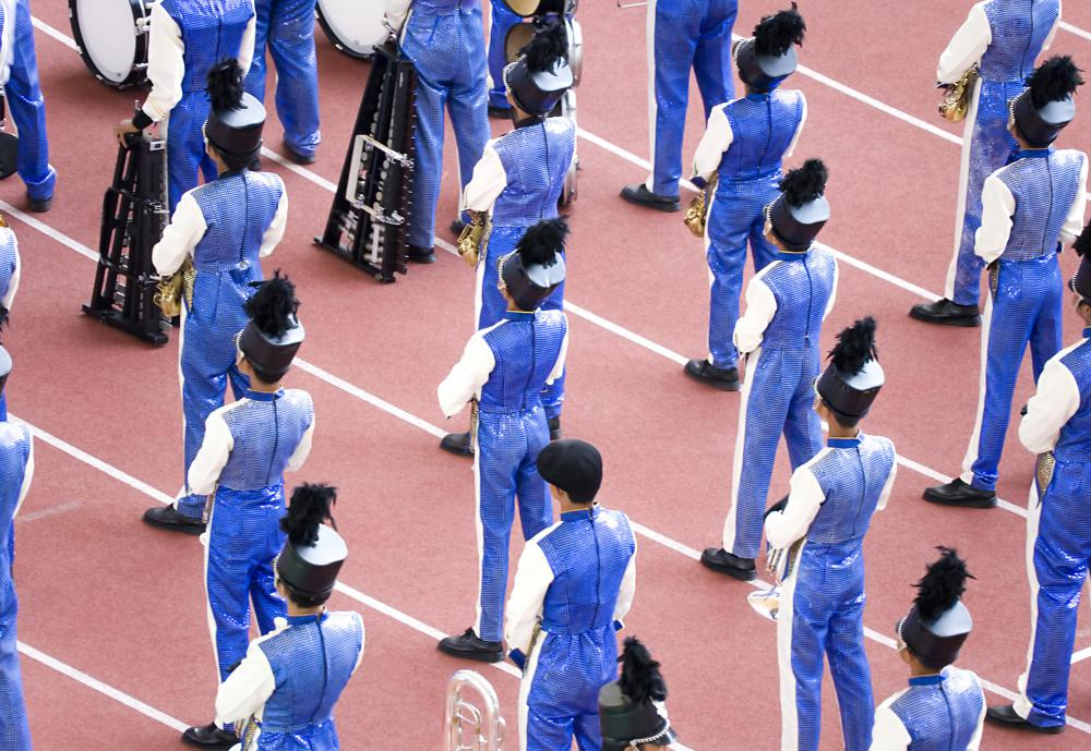 High schools and colleges often offer marching band shows.