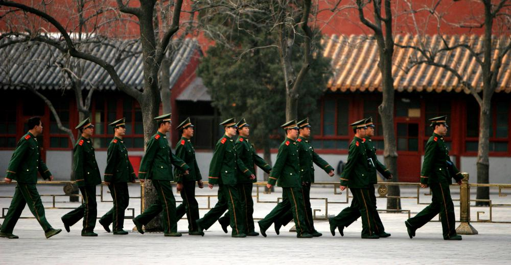 China's army contains approximately seven million soldiers.