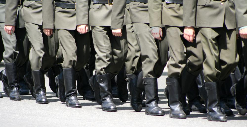 Jackboots were once popular among marching infantry soldiers.