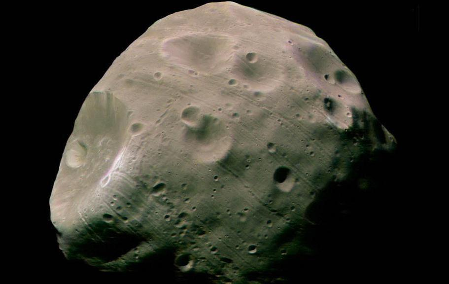 Since the orbit of Mars takes it near the Asteroid Belt, it is theorized that its moons Phobos and Deimos are captured asteroids.