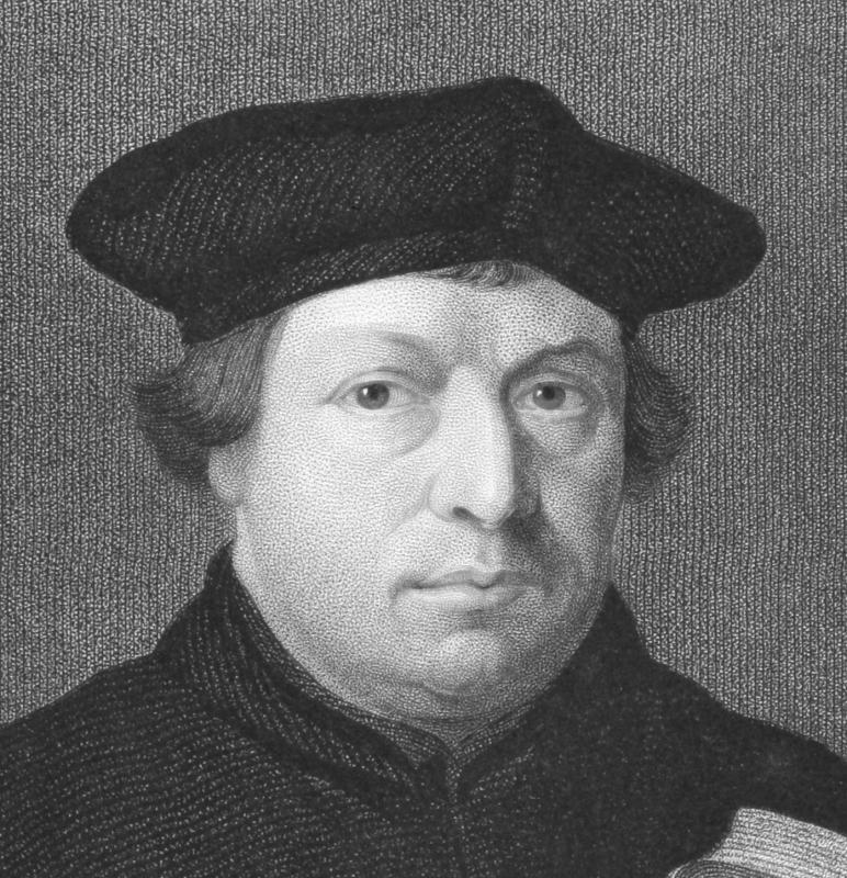 Religious groups can form around a particular person such as Martin Luther, for example.
