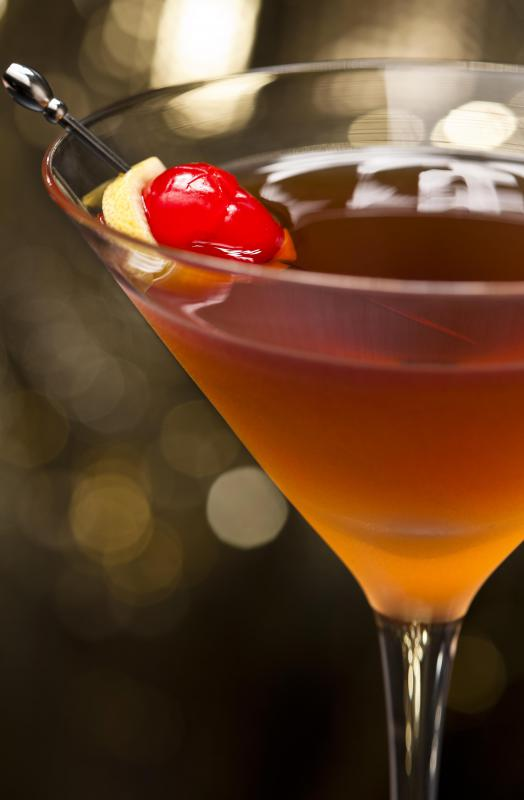 A dry martini is a variation of the popular alcoholic drink.