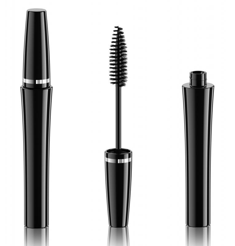After applying eyeshadow, mascara helps to set the look.