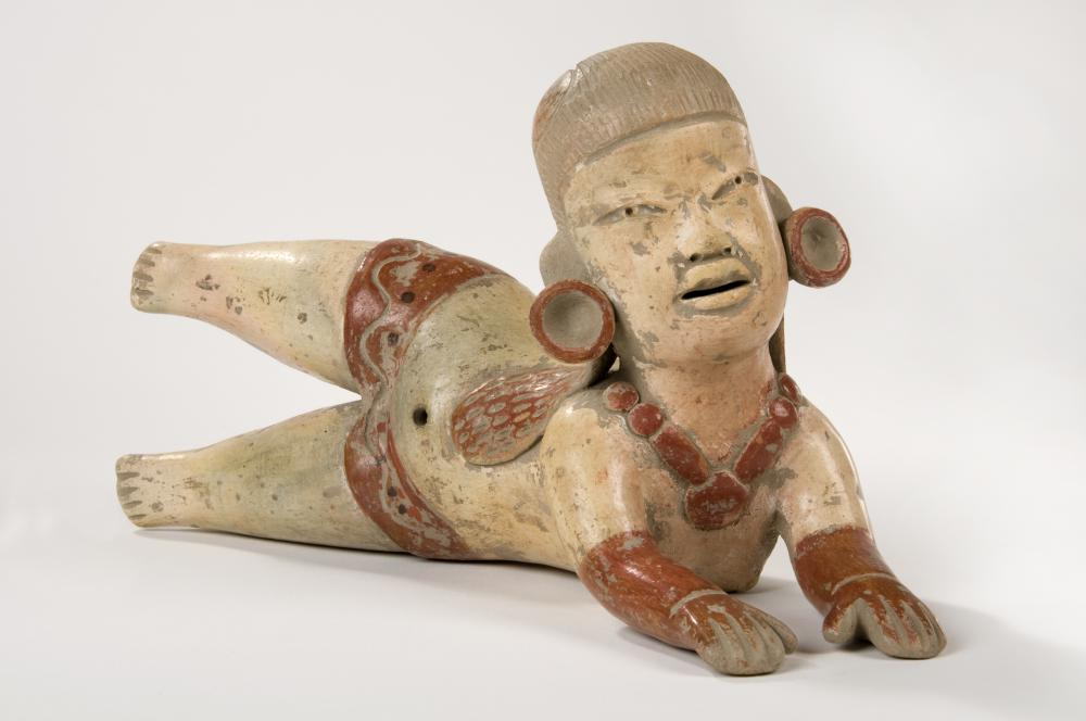 Artifacts left behind by the Mayan civilization include pottery and clay figures.