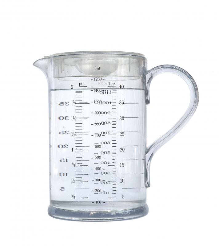 Some liquid measuring cups are considerably larger than dry ones.