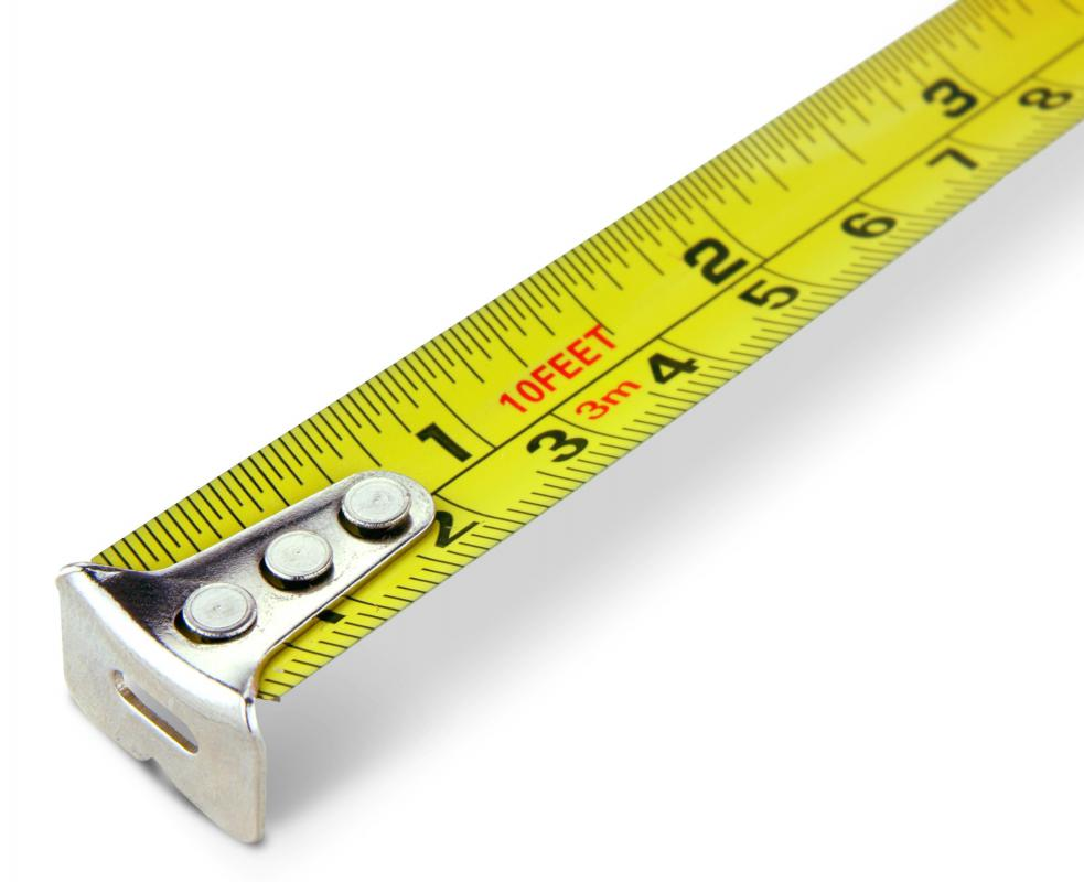 A measuring tape is needed to make a backyard ice rink.
