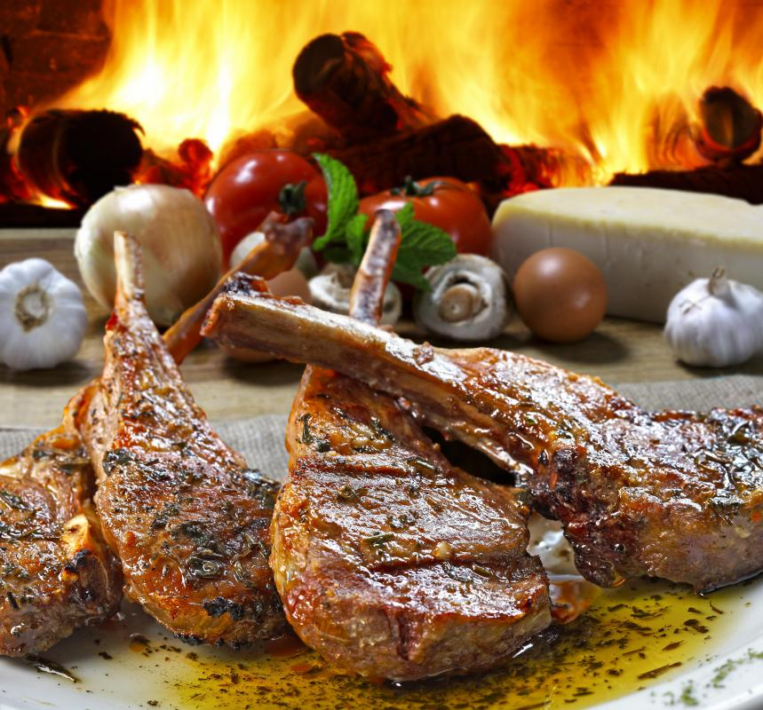 Lamb chops can marinated in garlic, spices, and olive oil before grilling them.