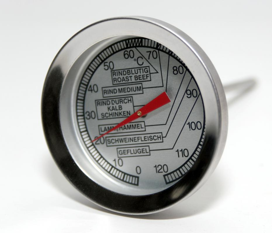 a meat thermometer is usually made of stainless steel