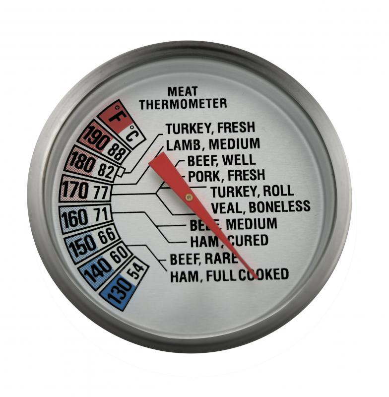Use a meat thermometer to determine whether the meat has reached the desired internal temperature.