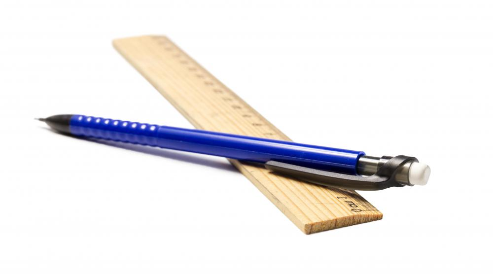 School supplies may include pencils and rulers.