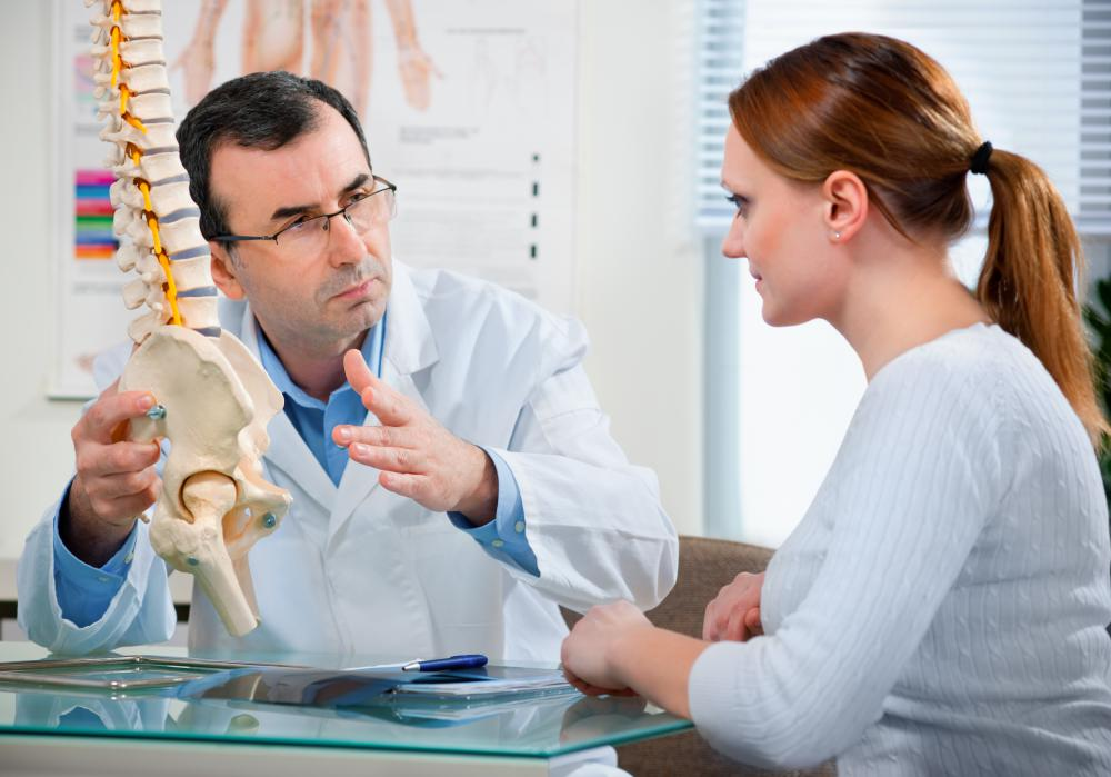 Chiropractors specialize in spinal adjustments.