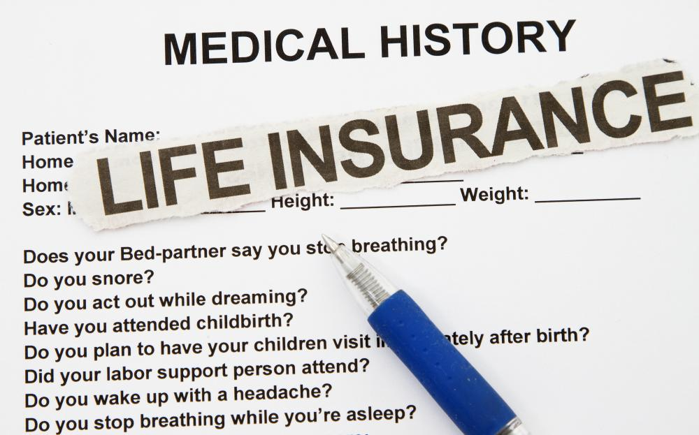 Insurance companies may ask an applicant to answer questions about his medical history to provide evidence of insurability.