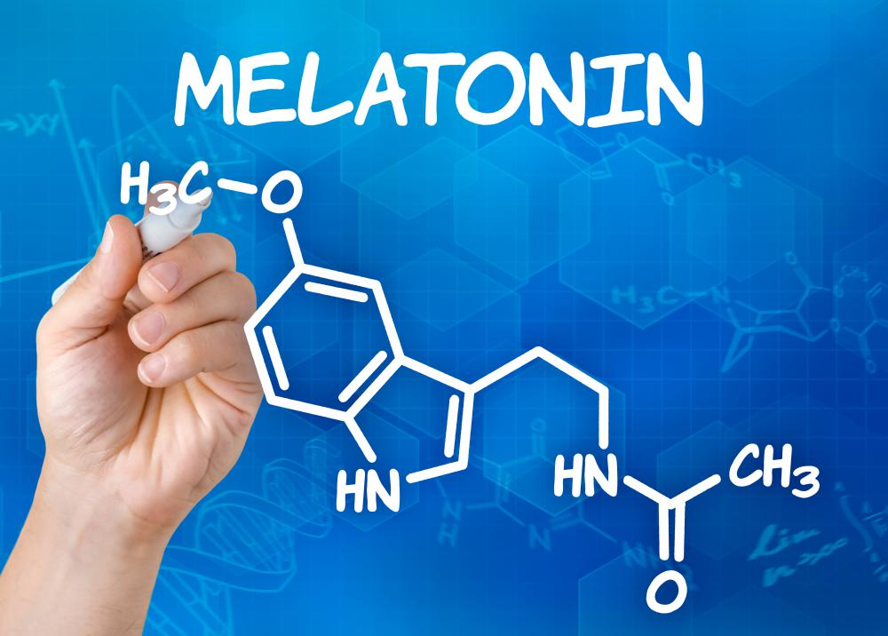 Melatonin is a hormone secreted by the brain's pineal gland.
