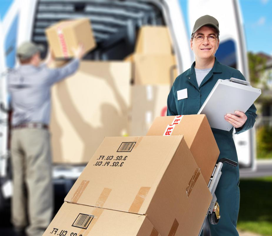 Logistics managers ensure that goods are shipped on time.