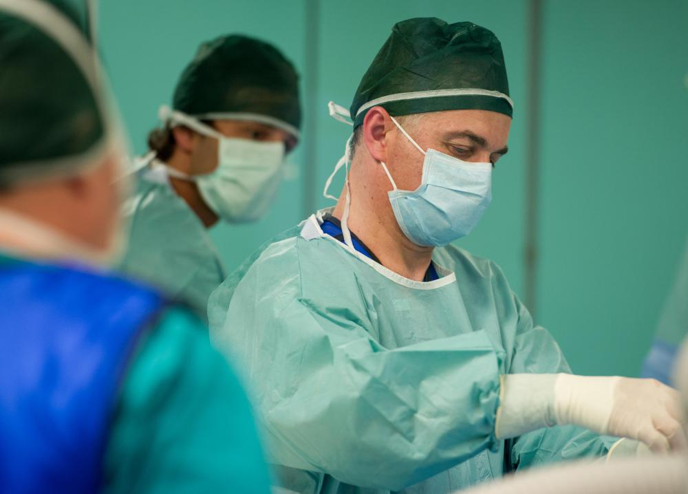Surgical masks and gowns are among common hospital supplies.