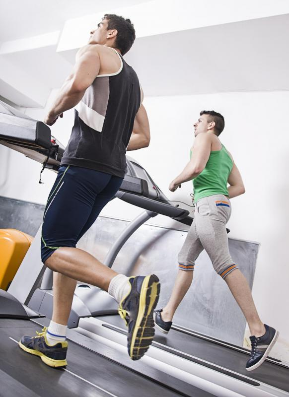Exercise equipment is often used in a workout routine.
