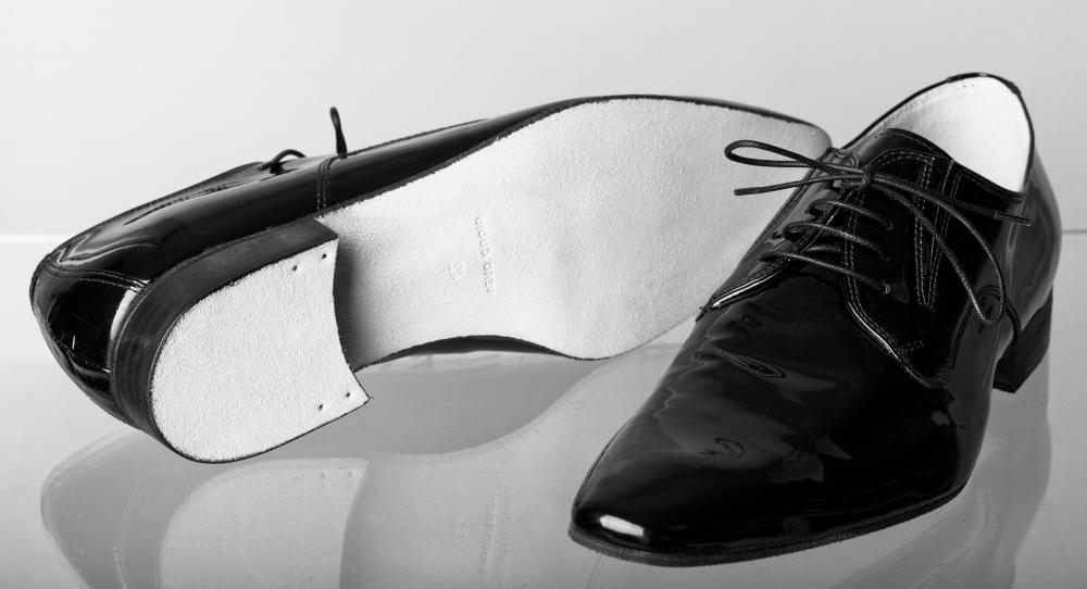 Because it looks attractive when shined, Italian leather is often used to make men's dress shoes.