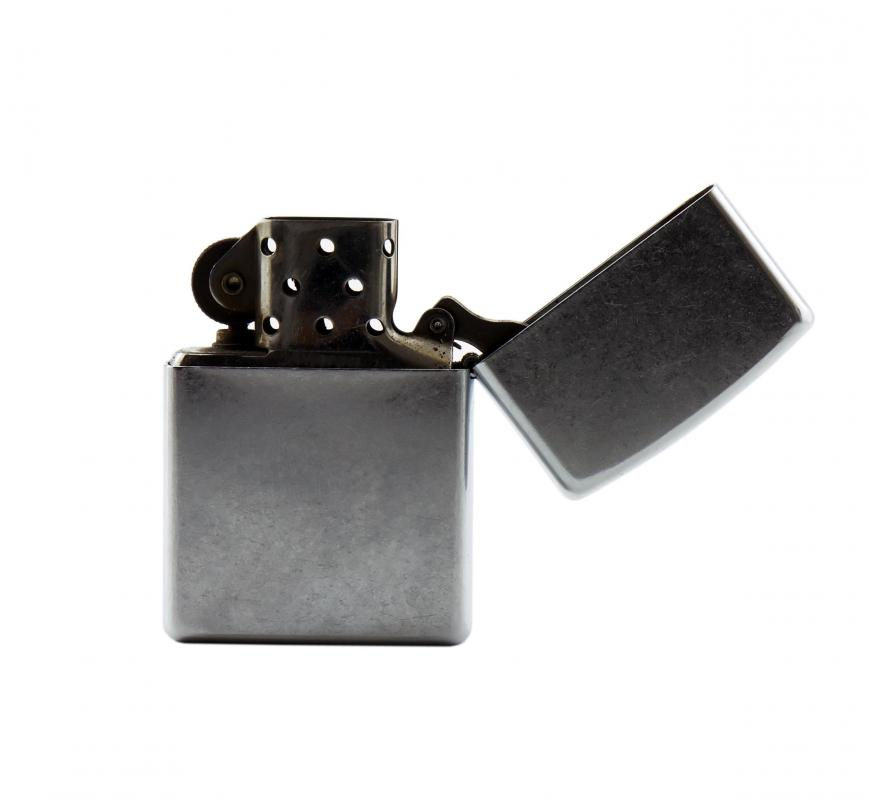 A person who is trying to quit smoking might throw away their lighters.