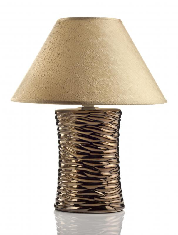 Table lamps may be useful for home office lighting.