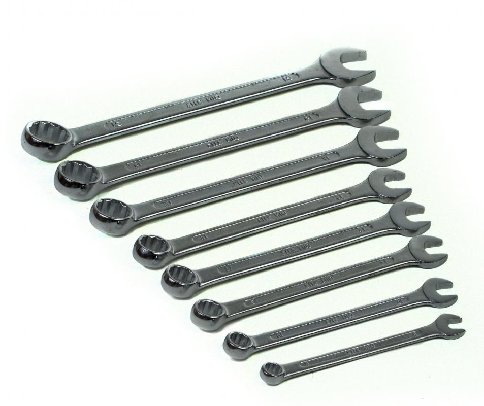 Wrenches are often used in automotive repair and maintenance.