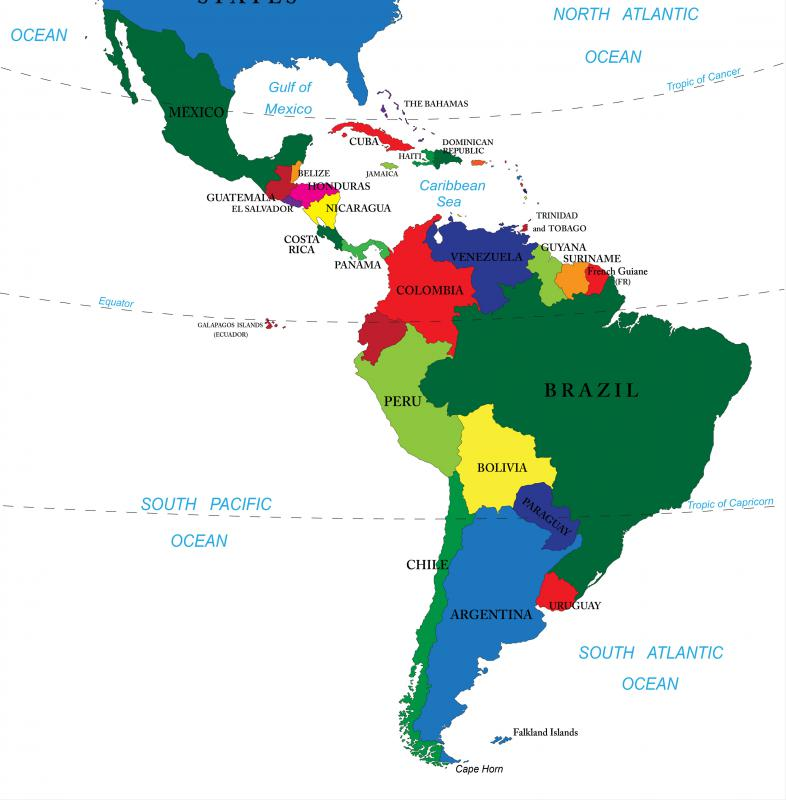 Mexico Map South America