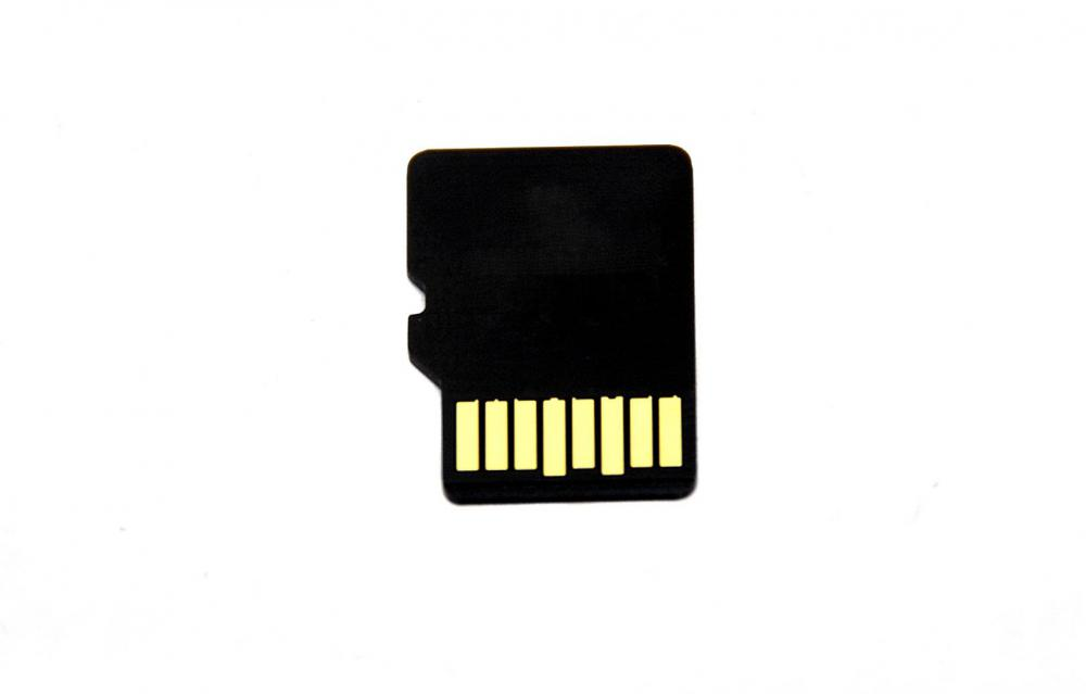 Smartphones can store digital information on micro SD cards.