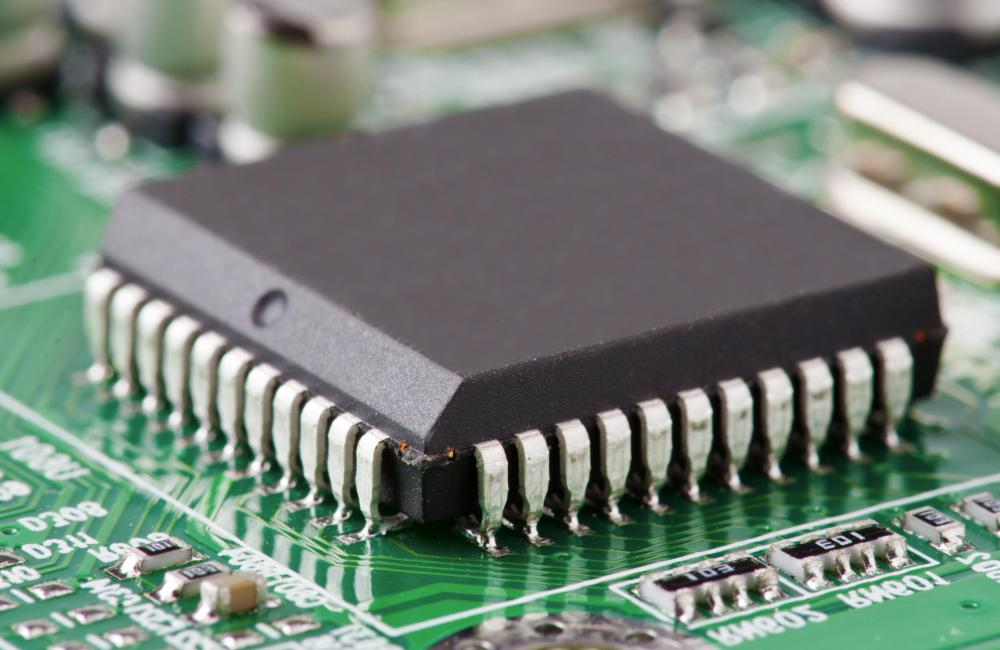 High tech manufacturing is often built around integrated components like microchips.