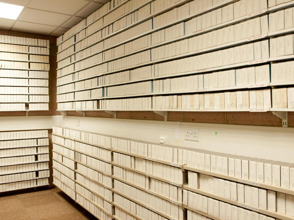 A file clerk may need special skills like working with older technologies such as microfilm.