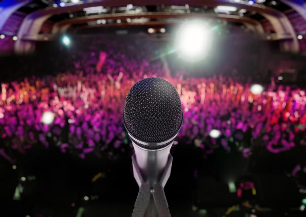 Cardioid microphones may be used for live concerts.