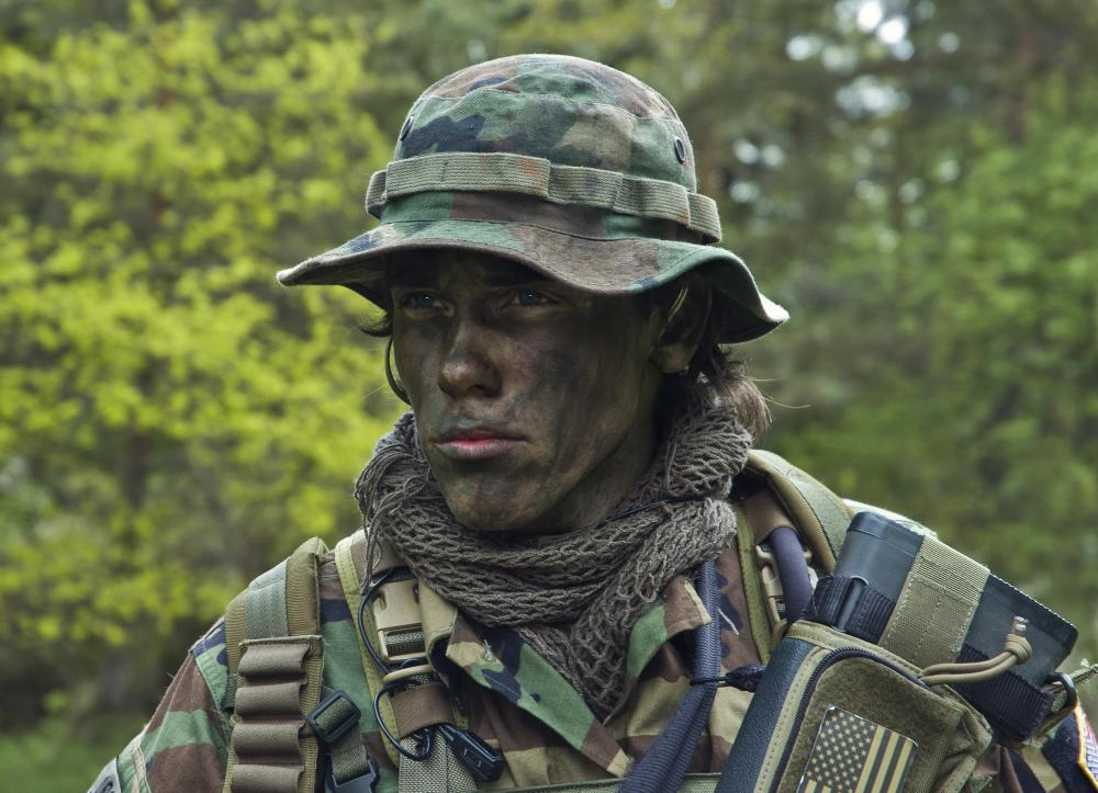 Military camouflage can include face paint.