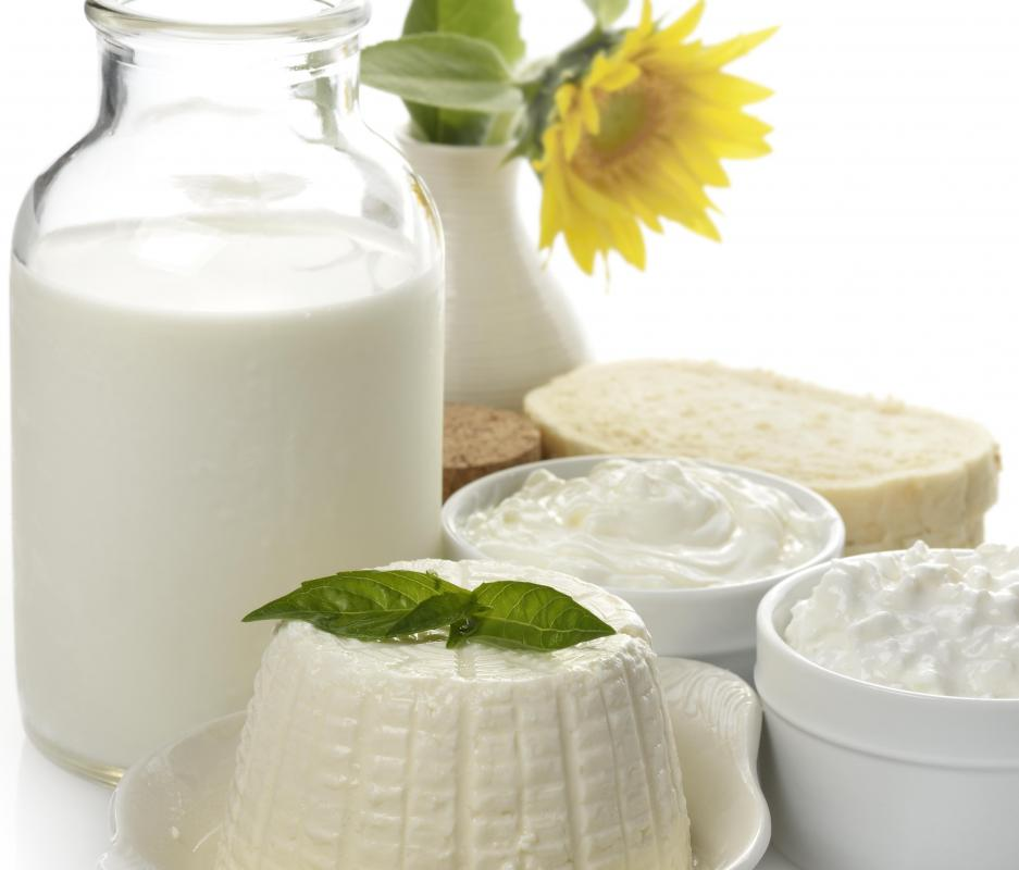 Whey protein isolate, produced from cows' milk, is a good source of amino acids.