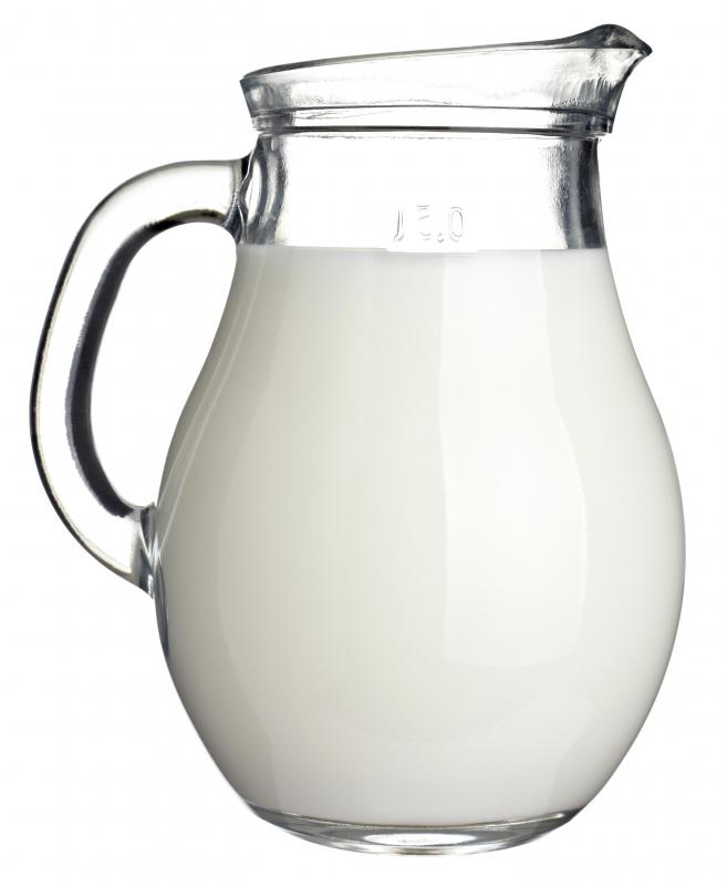 Milk, the main ingredient in baked milk.