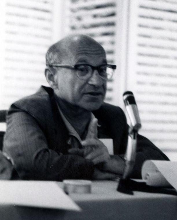 A textbook by 20th century economist Milton Friedman challenged Keynes and developed the theory of monetarism.