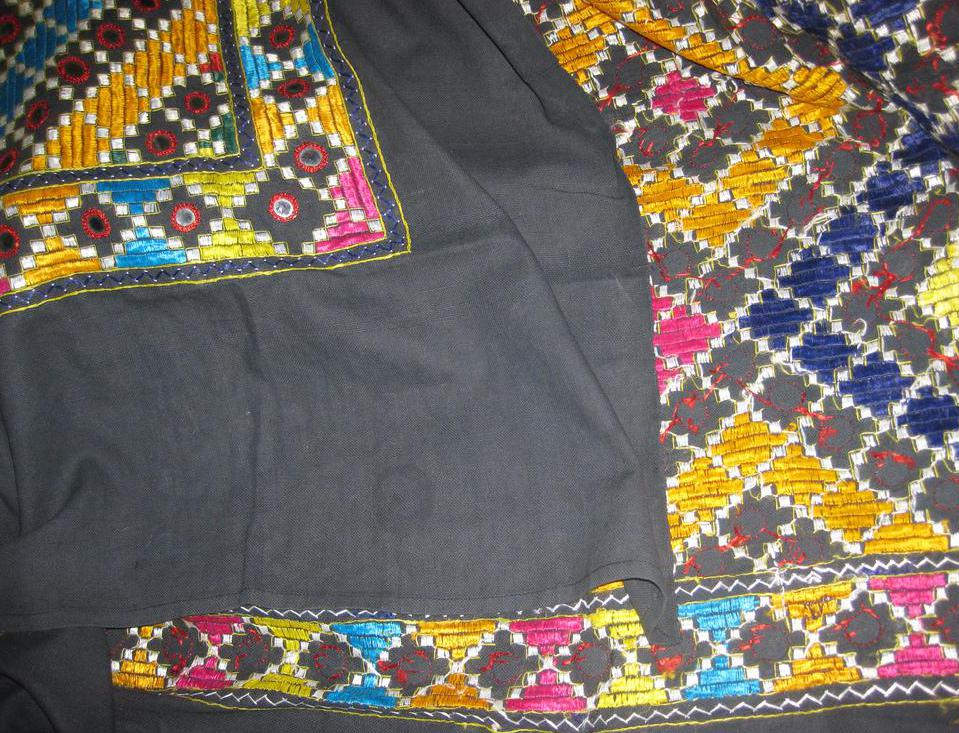 Embroidery is often used to decorate quilts and linens.