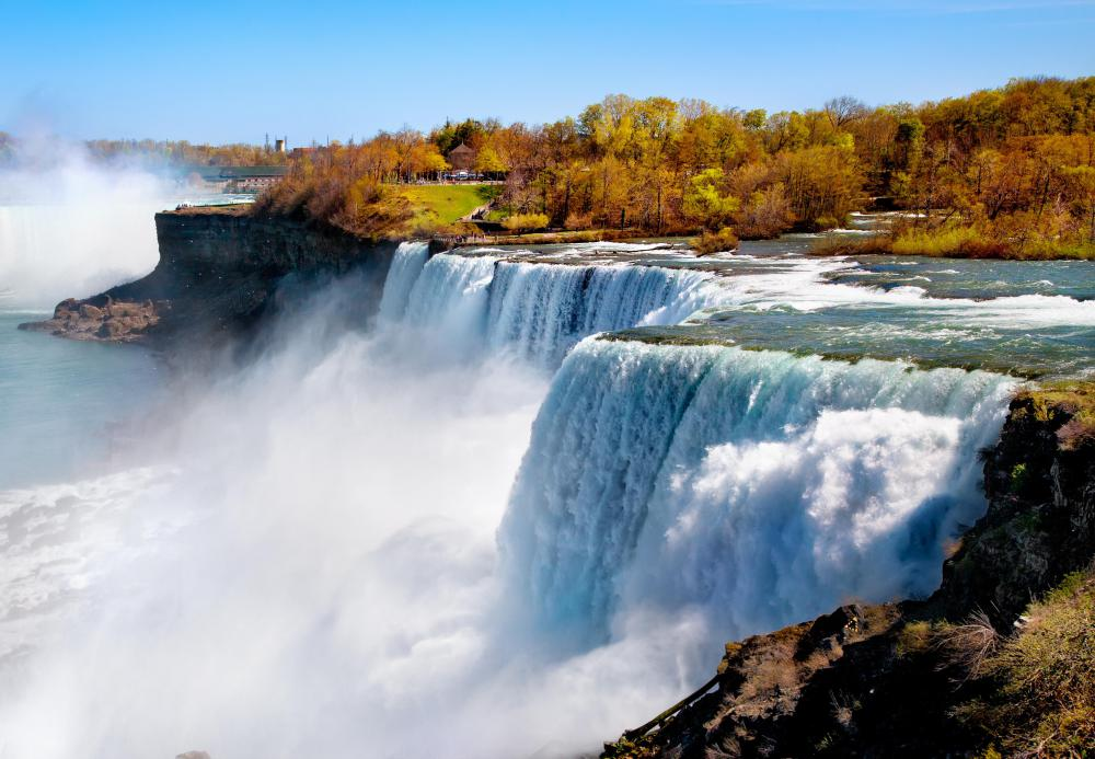 Waterfalls generate negative ions, which create a fresh smell.